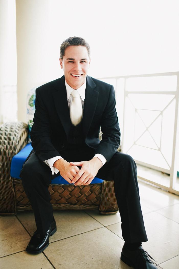 Eli in wedding suit
