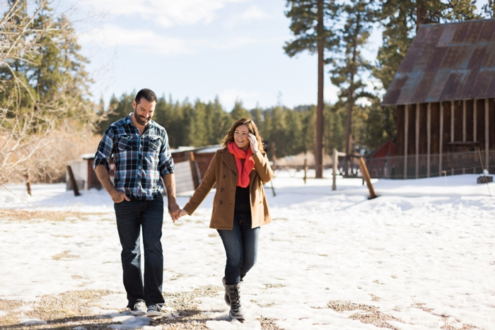 Rustic Winter Engagement photos