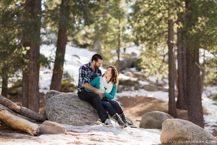 Engagement portraits winter