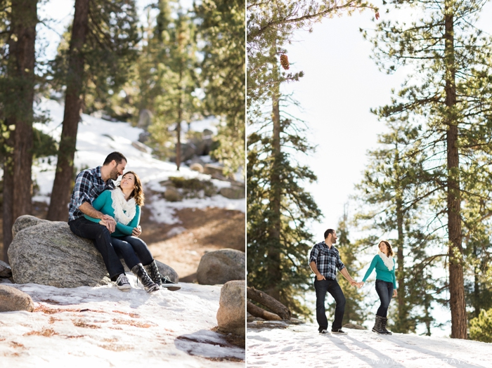 Pictures of couple in snowy mountains