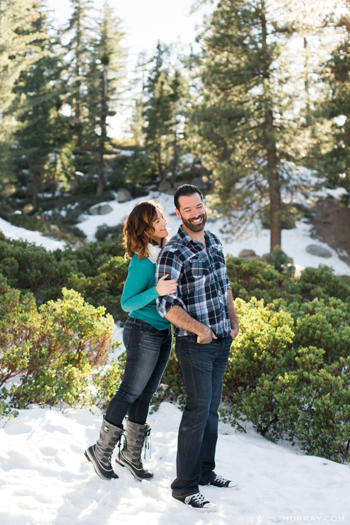 Snow engagement photos