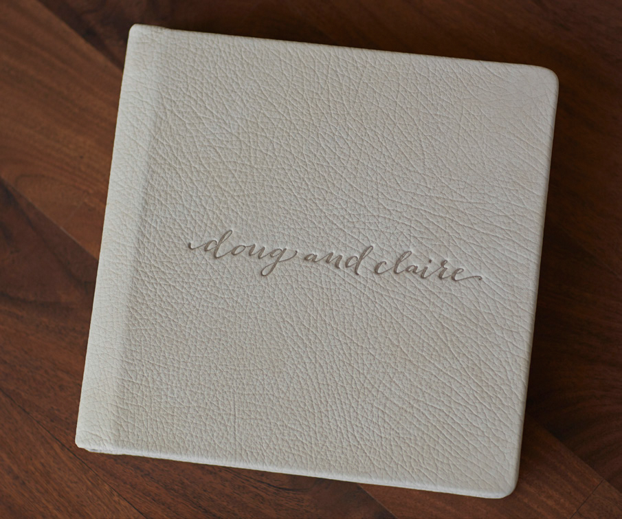 Alpine Luxe Leather Album with Custom Font Debossed