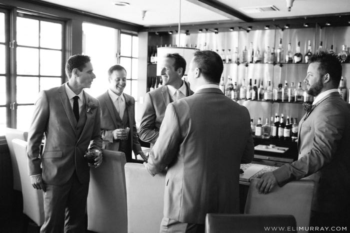 Groomsmen at a bar