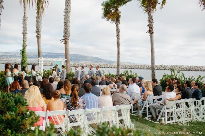 Wedding Ceremony at Portofino Hotel and Yacht Club