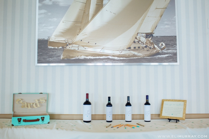 sailing themed wedding details