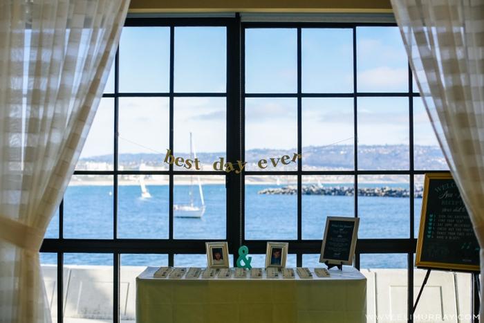 coastal view from wedding reception in Redondo Beach, CA
