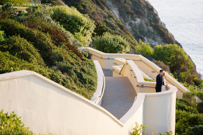 bride and groom at ritz-carlton laguna niguel