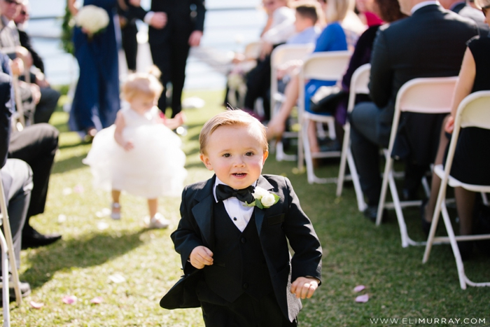 ring bearer coming up the aisle