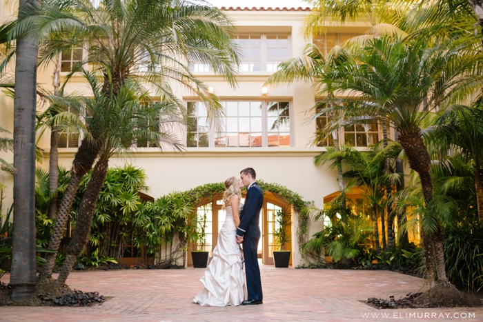 orange county portrait of bride and groom