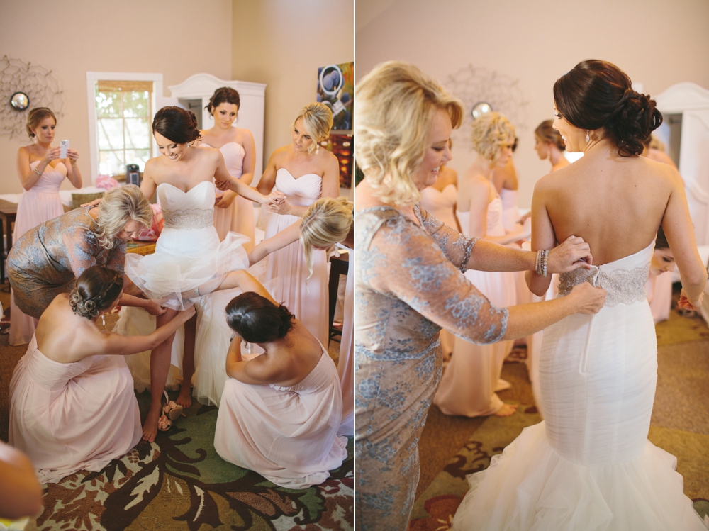 bride gets ready at ponte winery