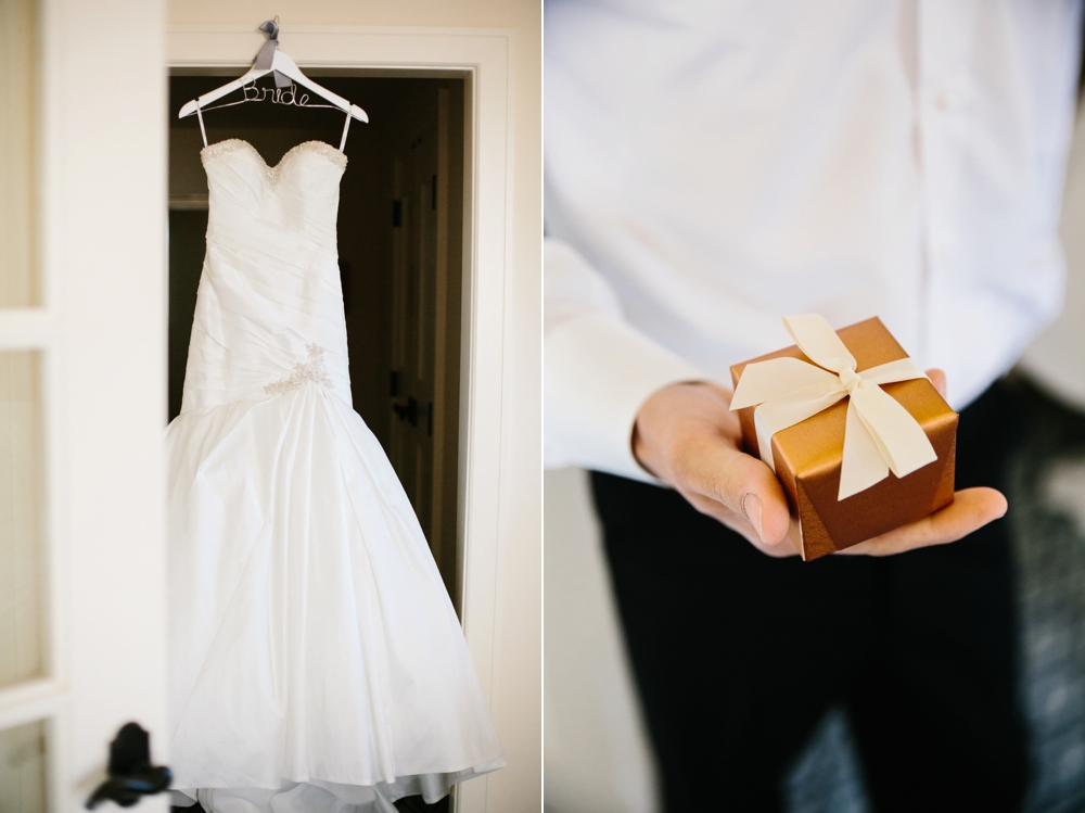 Wedding dress with gift