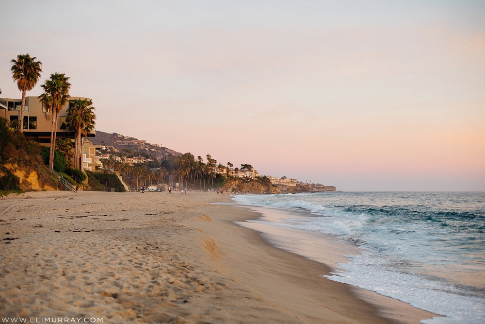 Pastel Sunset Photo of Laguna Beach California