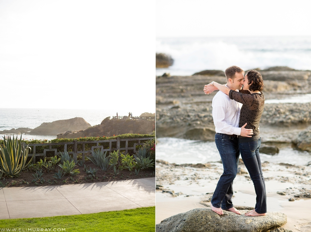 Couple in love at Montage Laguna Beach