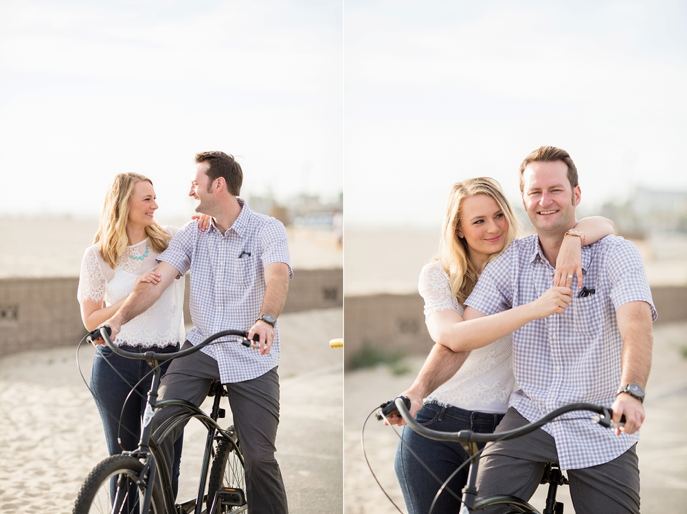 Southern California Engagements with bikes
