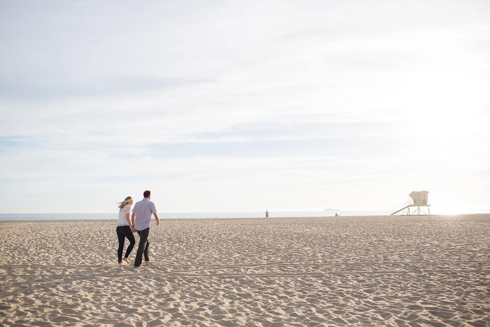 Sandy Beach Engagement Portraits