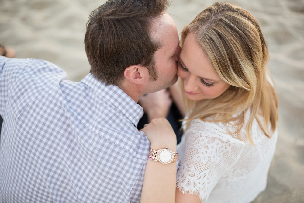 Intimate photo of engaged couple