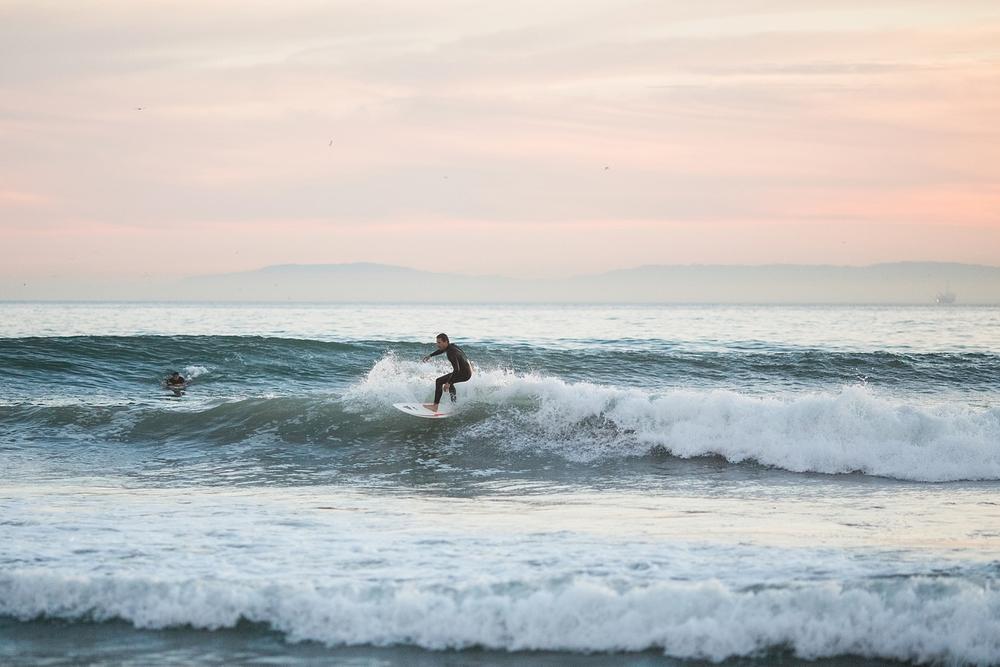 Surfer in Huntington Beach