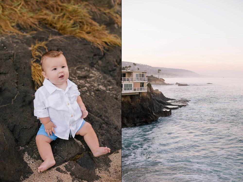 Beach baby photo