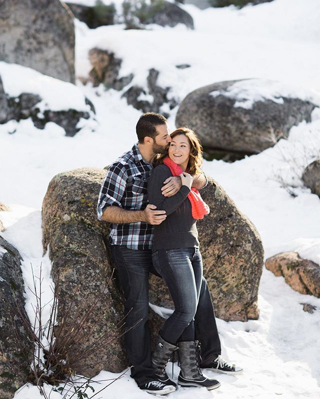 Wishing and hoping for snow around here! Makes us wish we were back shooting this fun engagement session in the snowy mountains! Photo of our sweet couple Blythe and Nick! . . . . #snowengagement #engaged #winterengagementsession #murrayweddings #huffpostido #theknot #greenweddingshoes #junebugweddings #stylemepretty #gettingmarried #ido #mountainengagement