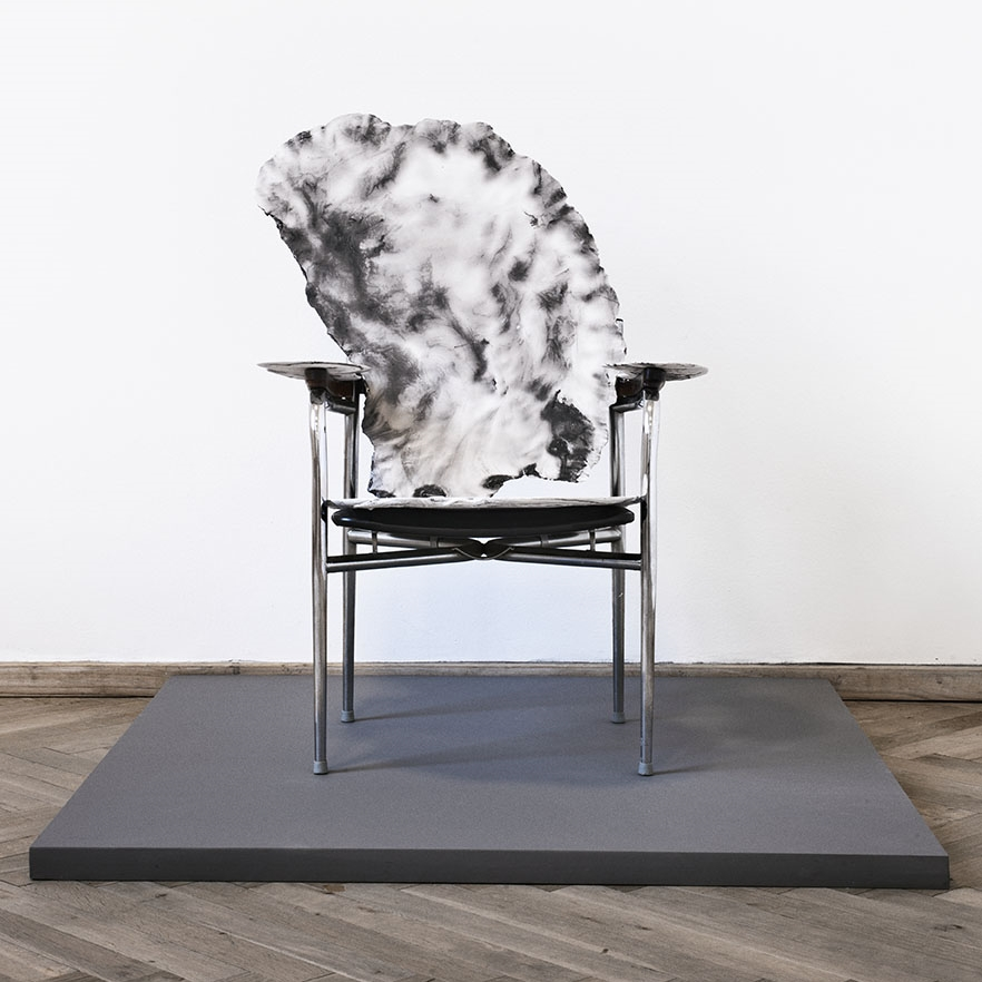 Petrified Chair, Plaster, paint and chair. 2015 Photo Daniela Reiner