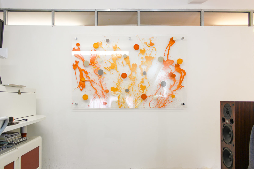 Edward Ball Artwork on perspex (the sea in orange)-0708.jpg