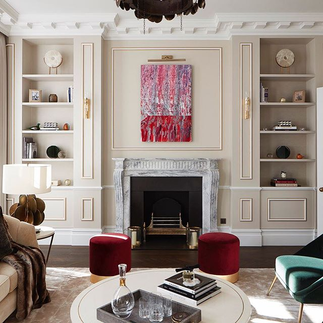This is one of my pieces of work in a new property development in West London, sold by the wonderful @imitatemodern a great gallery based in London. The work from the cinematic collection named 'theme de yoyo. A very grand house indeed!  #modernart #abstractart #contemporaryart #paintingtomusic #artwork #vividart #artmovement #arttomusic #redandgrey and has some DNA of #abstractexpressionism