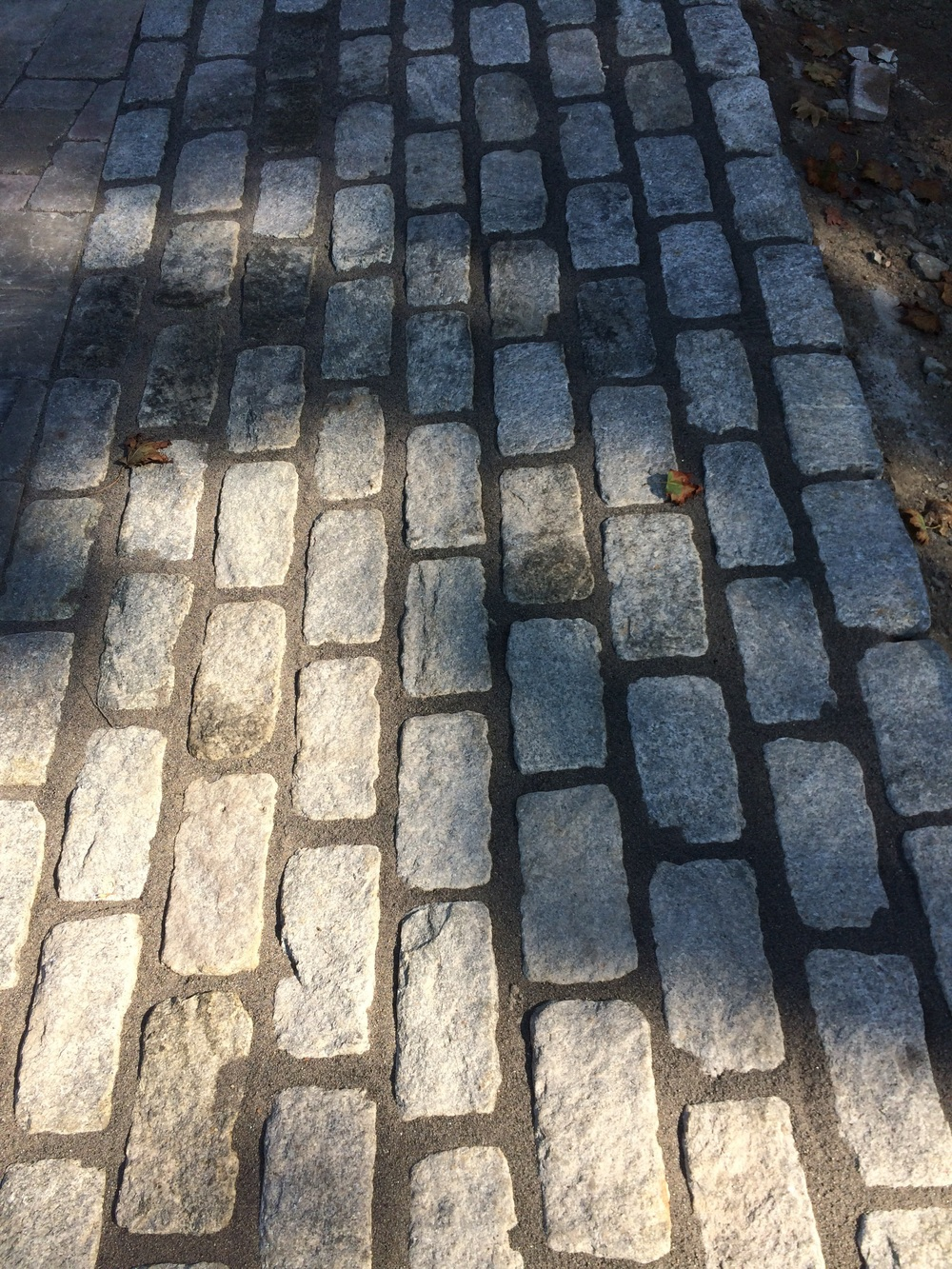 Polymetric sand was used on a Belgium block apron in Wilton CT and can be used on othermasonary accents like flagstone walkways.