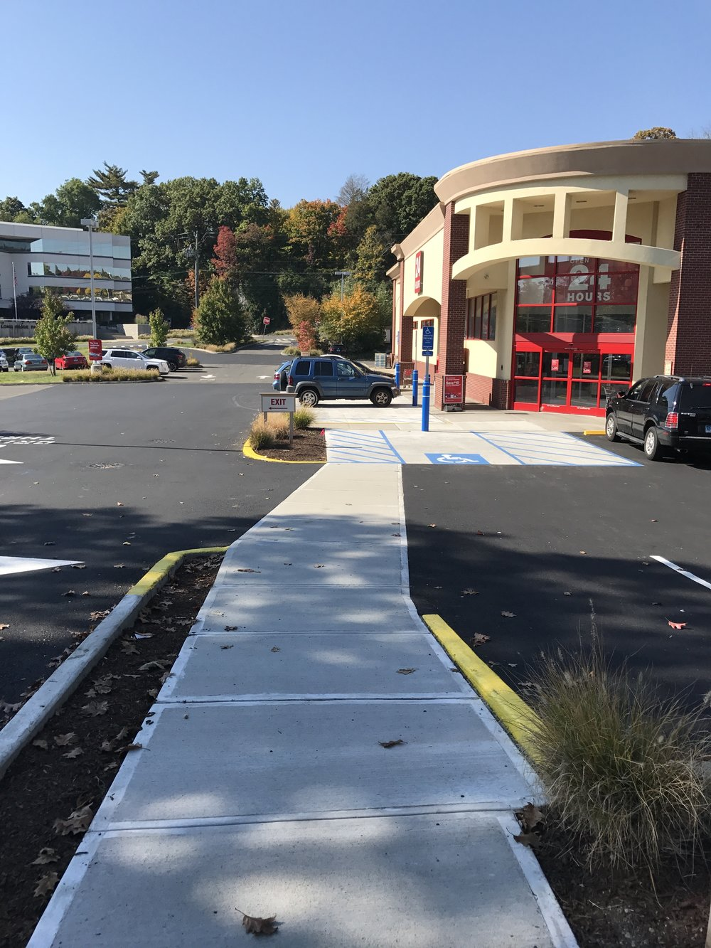 ADA Handicap Improvements for CVS in Stamford, CT - Cast in place concrete and handicap ramps