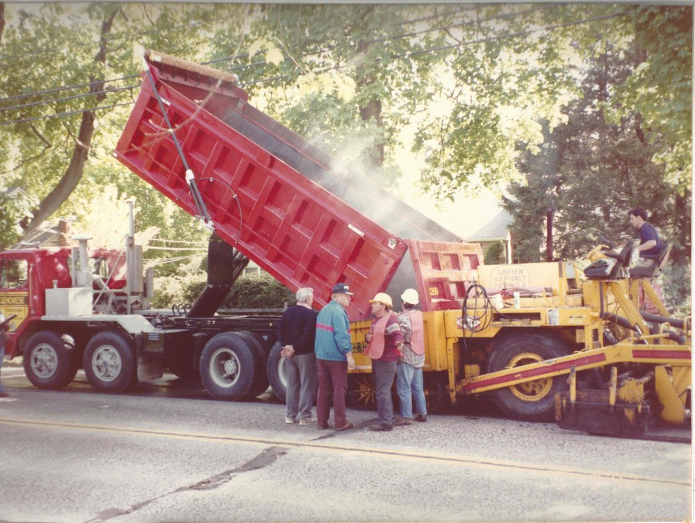 Ernie Bothwell at work when paving in New Canaan, CT