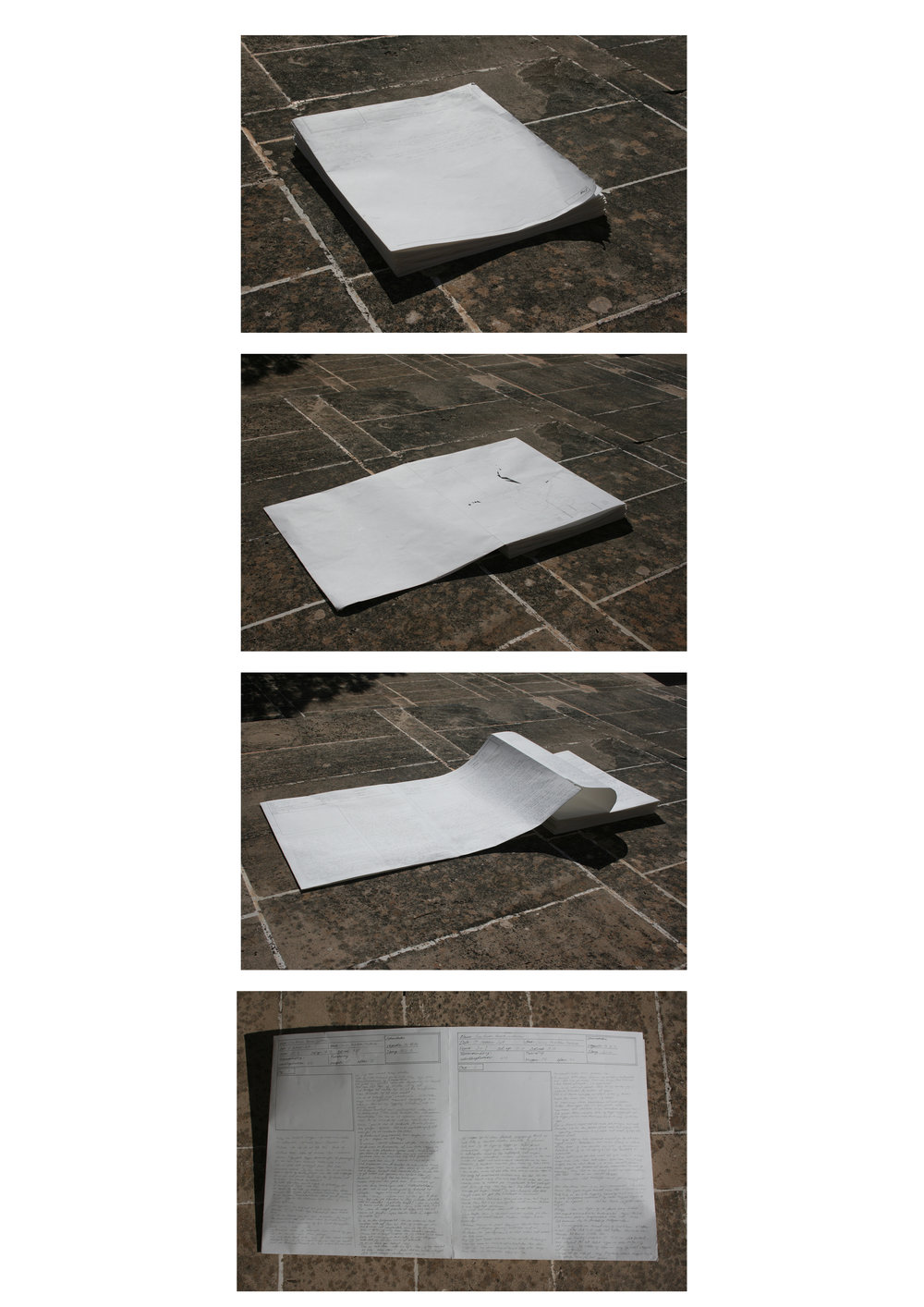Folded Diary - opens from one side