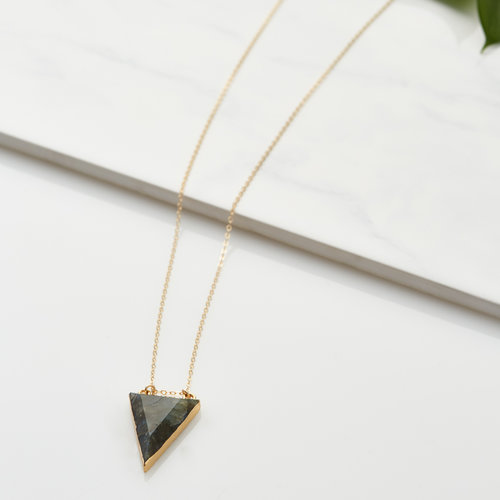ways triangle products strange oxidized pendant necklace