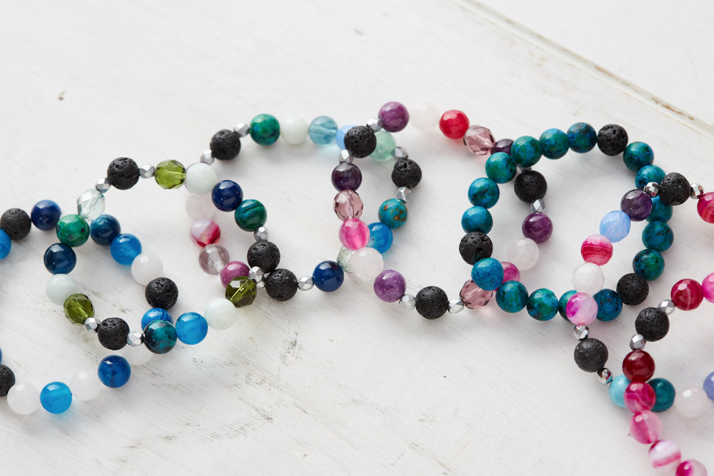 For the kids: - Kids go crazy for our Essential Oil bracelets! And we just added these bracelets to the shop too! They are great for kiddos who need a little relaxation or a little more energy in the morning. Each one comes with a sample DoTerra oil.