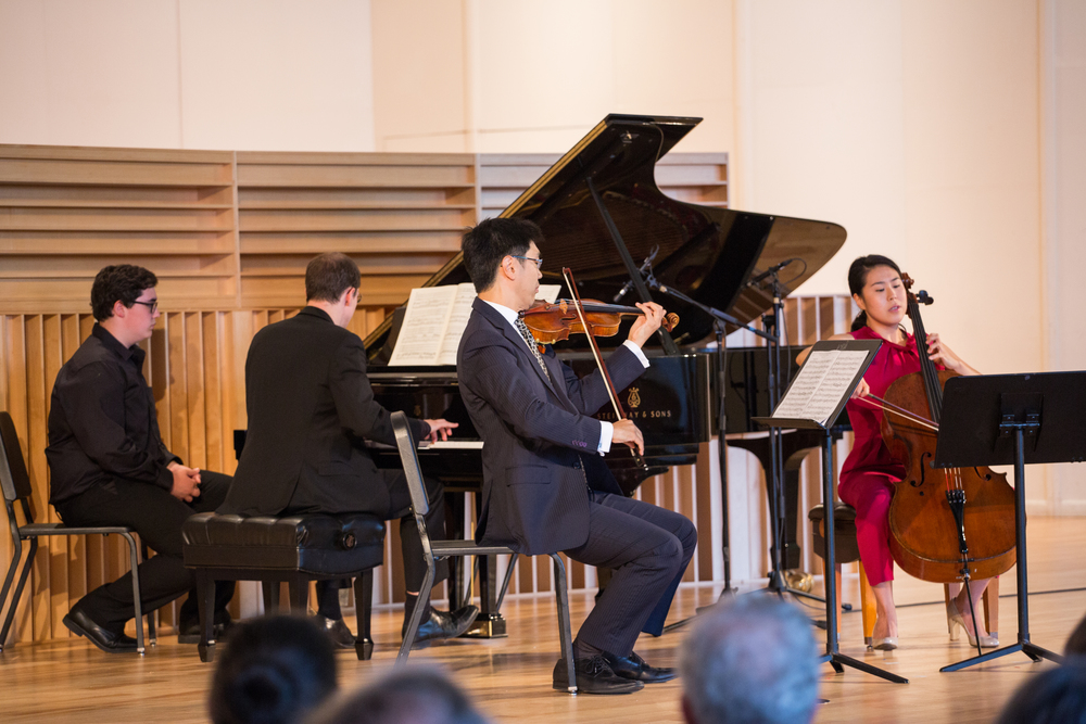 Beethoven Trio Op. 11 with Gilles Vonsattel, Soovin Kim, and Deborah Pae
