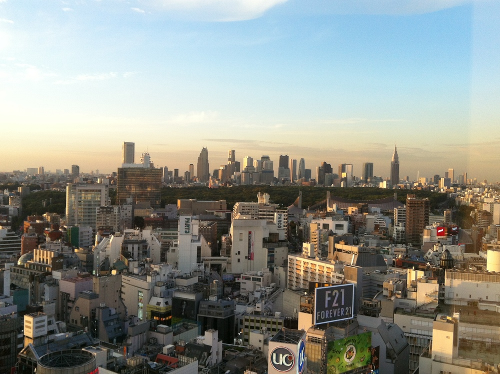 Skyline view from my hotel room in Shibuya, Tokyo