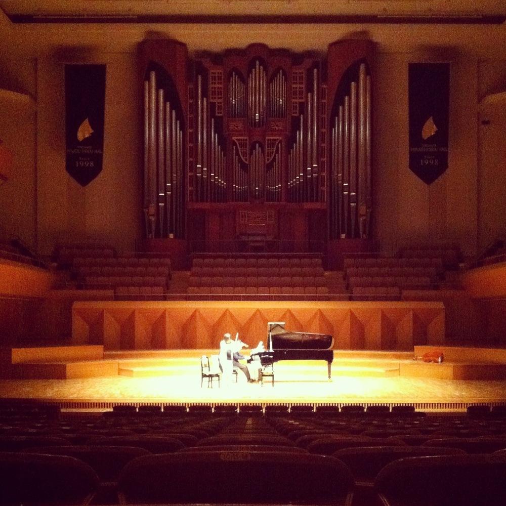Dress rehearsal at Yokohama Minato Mirai Hall