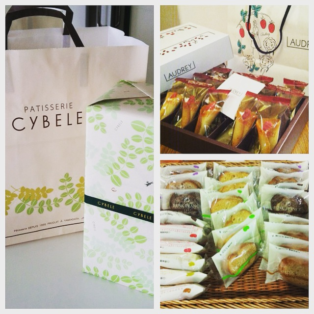 A plethora of delicious Japanese goodies from L'Audrey and Cybele, the sponsor of our concert in Yamagata
