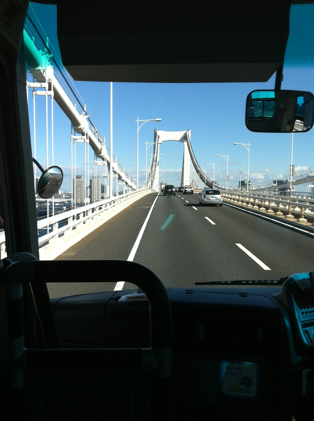 On the way to Narita Airport