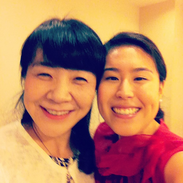 Reunion with Aizuri Quartet violist Ayane Kozasa's mother, my Japanese mom!
