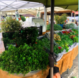 A bounty of green at the San Francisco farmers market!