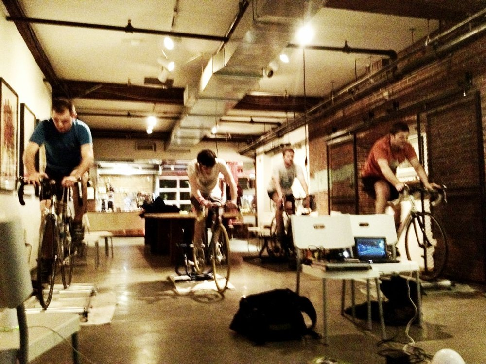 Indoor riding at Maglianero in the halcyon days of 2012.