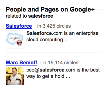 SalesForce Google+