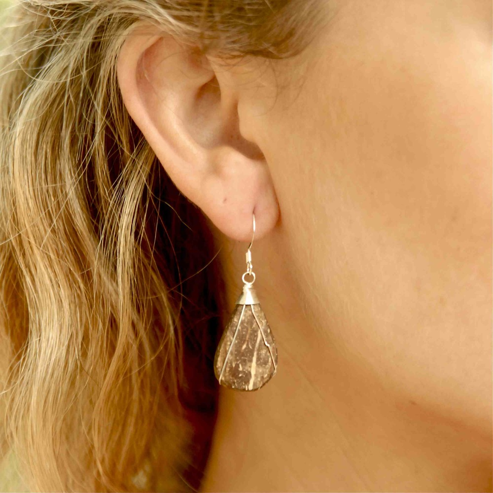 Coconut Husk Earrings