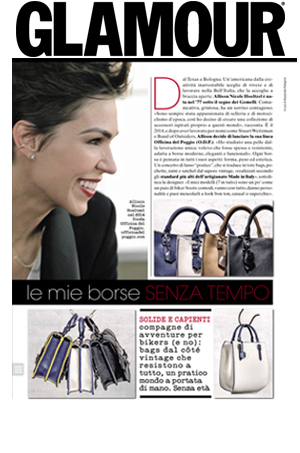 "Officina del Poggio featured as one of the""Key Players"" of accessories in the March 2016 Issue of  GLAMOUR  Italy"