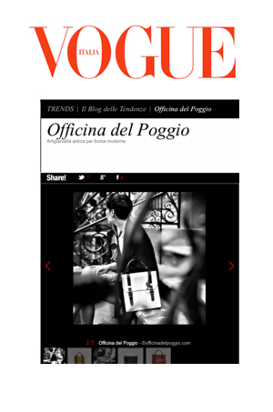 VOGUE  Italy features Officina del Poggio in their TRENDS Blog