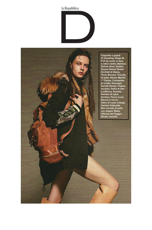 ODP Mini Gemini Satchel featured in September 10 issue of  D Reppublica
