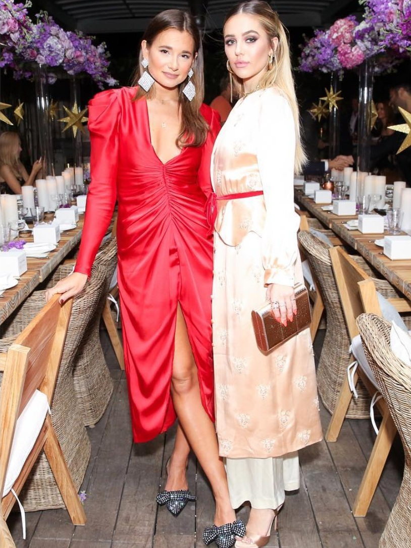 Danielle Bernstein of  @weworewhat  and  @DelilahBelle  with the ODP Toscano Clutch in Miami.