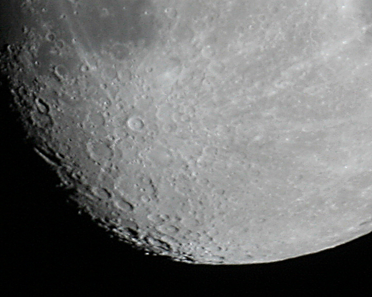 Close-up of the moon taken with my telescope