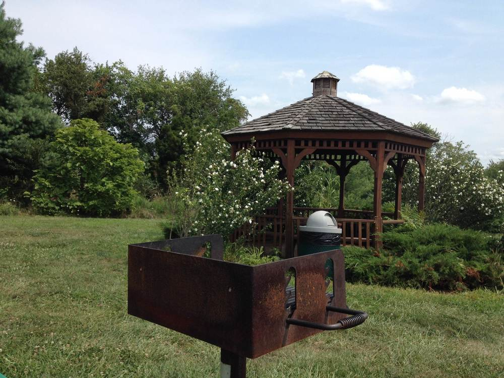 One of the lovely gazebos at Franklin Park.