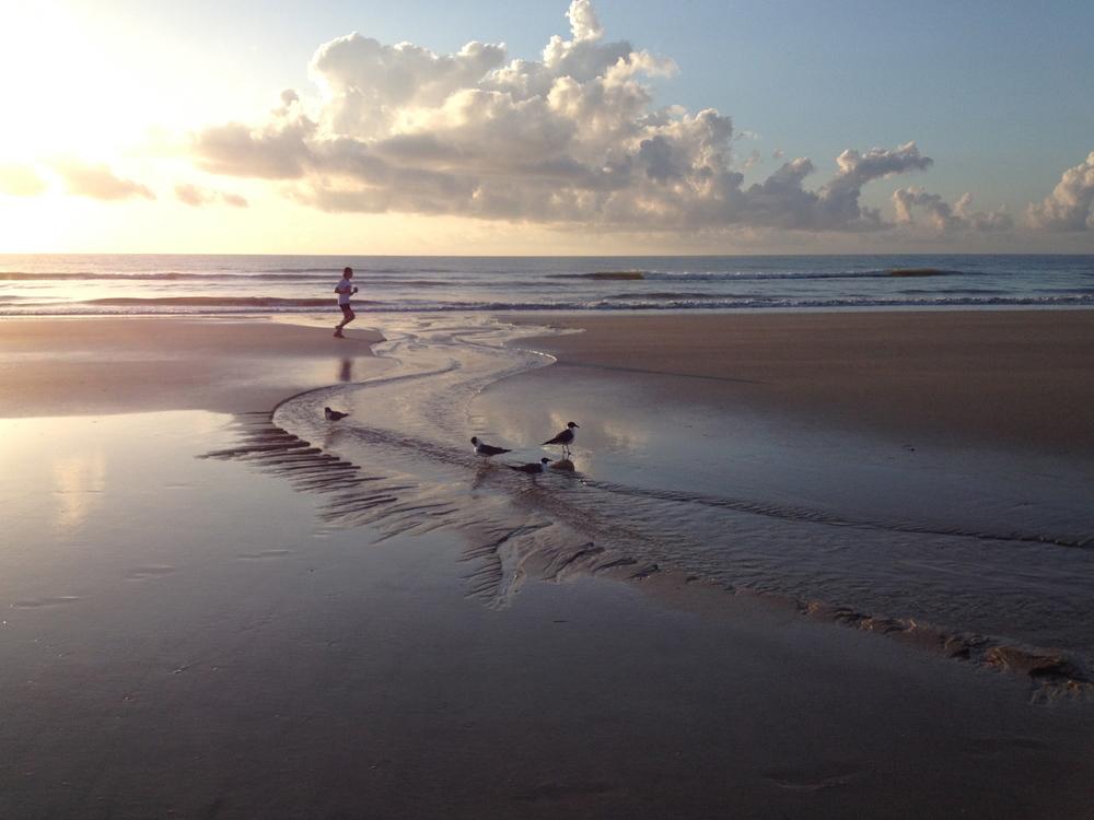 A morning beach walk on my summer vacation on Amelia Island, FL