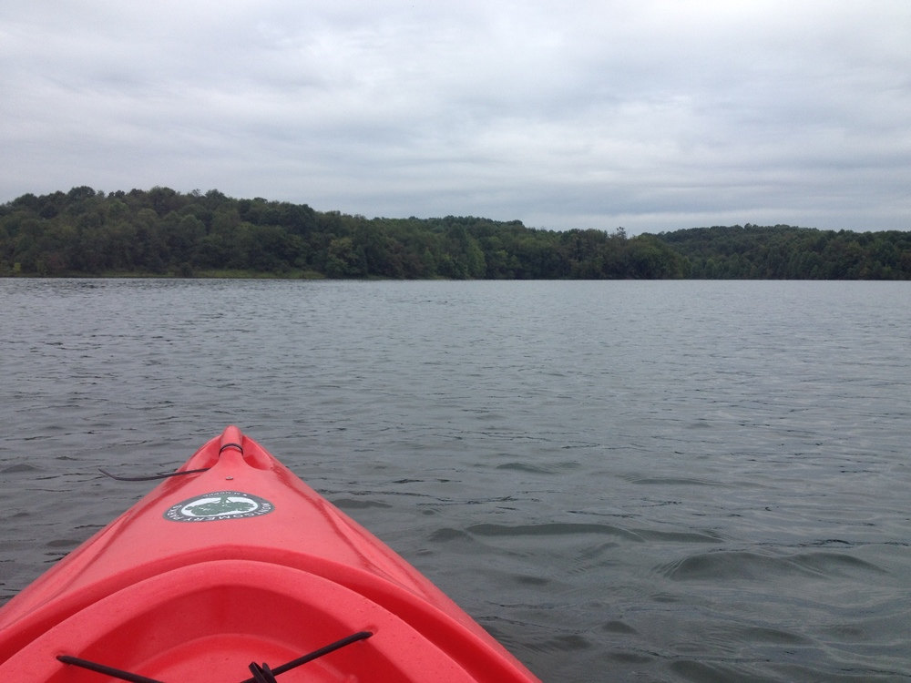 Cloudy day on the kayak